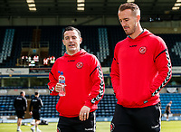 Fleetwood Town's Ross Wallace and Alex Cairns  pictured before the match<br /> <br /> Photographer Andrew Kearns/CameraSport<br /> <br /> The EFL Sky Bet League One - Wycombe Wanderers v Fleetwood Town - Saturday 4th May 2019 - Adams Park - Wycombe<br /> <br /> World Copyright © 2019 CameraSport. All rights reserved. 43 Linden Ave. Countesthorpe. Leicester. England. LE8 5PG - Tel: +44 (0) 116 277 4147 - admin@camerasport.com - www.camerasport.com