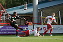 Chuks Aneke of Crewe shoots. Stevenage v Crewe Alexandra - npower League 1 -  Lamex Stadium, Stevenage - 15th September, 2012. © Kevin Coleman 2012.