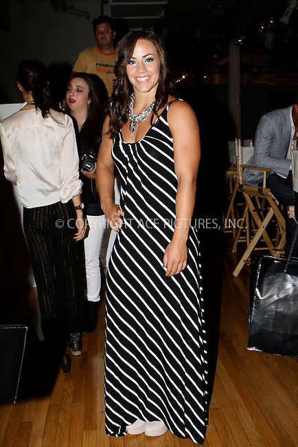 WWW.ACEPIXS.COM....September 11 2012, New York City....Camille LeBlanc-Bazinet at the Tumbler And Tipsy By Michael Kuluva spring 2013 fashion show during Style360 at Metropolitan Pavillion on September 11, 2012 in New York City.......By Line: Nancy Rivera/ACE Pictures......ACE Pictures, Inc...tel: 646 769 0430..Email: info@acepixs.com..www.acepixs.com