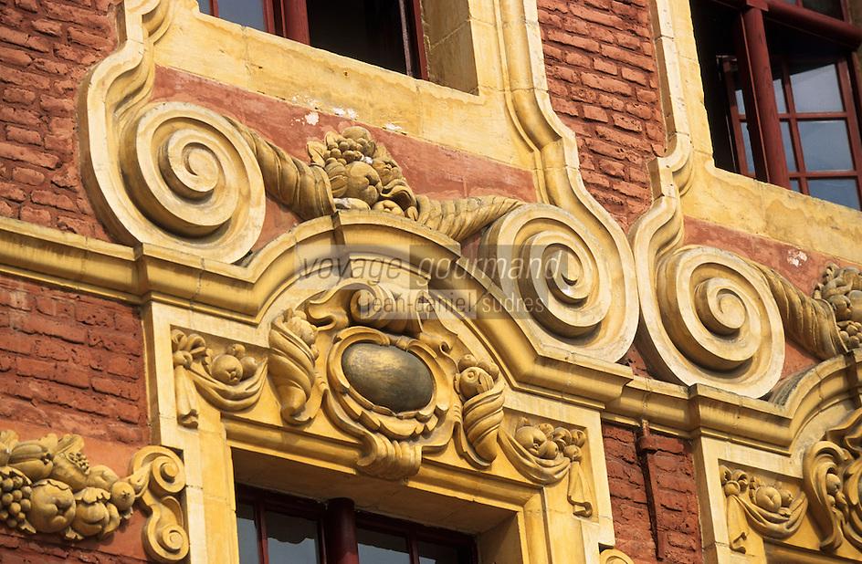 Europe/France/Nord-Pas-de-Calais/59/Nord/Lille: La Grand Place - Détail façades