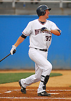 25 June 2007: Brett McMillan of the Potomac Nationals, Class A affiliate of the Washington Nationals, vs. the Frederick Keys, a Baltimore Orioles affiliate, at Pfitzner Stadium, Woodbridge, Va.  Photo by:  Tom Priddy/Four Seam Images