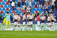 27th October 2019; Estadi Cuitat de Valencia, Valencia, Spain; La Liga Football, Levante versus Espanyol; RC Espanyol players celebrate after defeating Levante UD 1-0 - Editorial Use