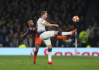 Tottenham Hotspur's Harry Kane and Manchester City's Fabian Delph<br /> <br /> Photographer Rob Newell/CameraSport<br /> <br /> UEFA Champions League Quarter-finals 1st Leg - Tottenham Hotspur v Manchester City - Tuesday 9th April 2019 - White Hart Lane - London<br />  <br /> World Copyright © 2018 CameraSport. All rights reserved. 43 Linden Ave. Countesthorpe. Leicester. England. LE8 5PG - Tel: +44 (0) 116 277 4147 - admin@camerasport.com - www.camerasport.com