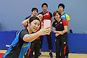 Japan team group (JPN), <br /> JULY 22, 2016 - Table Tennis : <br /> Japan national team press conference <br /> for Rio Olympic Games 2016 <br /> at Ajinomoto National Training Center, Tokyo, Japan. <br /> (Photo by YUTAKA/AFLO SPORT)