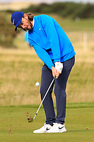 Tommy Fleetwood (ENG) on the 16th fairway during Round 3 of the Alfred Dunhill Links Championship 2019 at St. Andrews Golf CLub, Fife, Scotland. 28/09/2019.<br /> Picture Thos Caffrey / Golffile.ie<br /> <br /> All photo usage must carry mandatory copyright credit (© Golffile | Thos Caffrey)