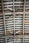 Angels on ceiling, Blythburgh church, Suffolk, England