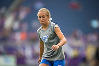 Orlando, FL - Sunday July 10, 2016: Brittany Ratcliffe prior to a regular season National Women's Soccer League (NWSL) match between the Orlando Pride and the Boston Breakers at Camping World Stadium.