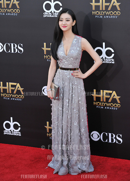 Jing Tian at the 2014 Hollywood Film Awards at the Hollywood Palladium.<br /> November 14, 2014  Los Angeles, CA<br /> Picture: Paul Smith / Featureflash