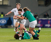 1st February 2019, Energia Park, Dublin, Ireland; Womens Six Nations rugby, Ireland versus England; Hannah Botterman of England is tackled by her opposite number Laura Feely of Ireland