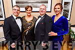 Jimmy Litchfield, Fiona and Kevin Cotter and Brenda Litchfield attending the Scoil Eoin Valentine's Ball Fundraiser in the Ballygarry House Hotel on Friday night.