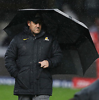 DURBAN, SOUTH AFRICA - JULY 14: Mario Ledesma (Head Coach) of the Jaguares during the Super Rugby match between Cell C Sharks and Jaguares at Jonsson Kings Park on July 14, 2018 in Durban, South Africa. Photo: Steve Haag / stevehaagsports.com