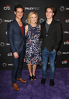 11 September 2017 - Los Angeles, California - Miles Gaston Villanueva, Edie Falco, Gus Halper. The Paley Center For Media 11th Annual PaleyFest Fall TV Previews Los Angeles - NBC. <br /> CAP/ADM/FS<br /> &copy;FS/ADM/Capital Pictures