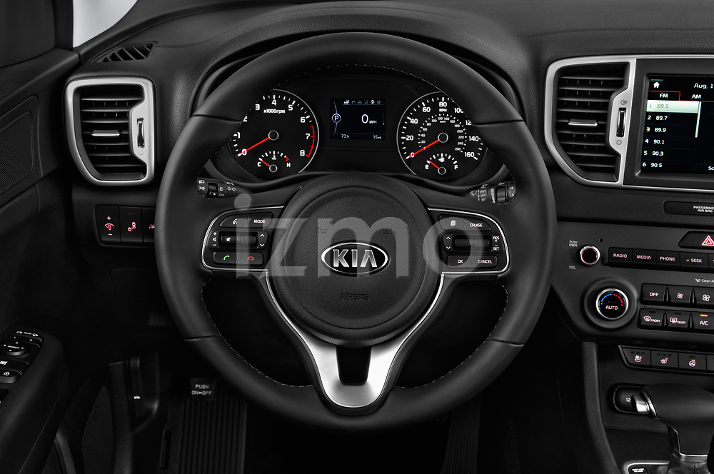 Car pictures of steering wheel view of a 2019 KIA Sportage EX 5 Door SUV