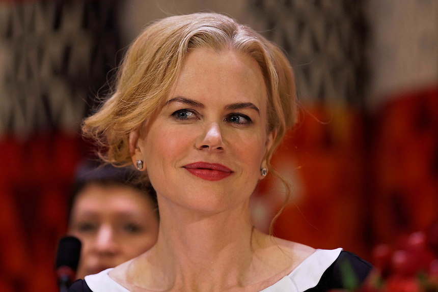 Nicole Kidman attends a forum on preventing violence against women at United Nations Headquarters in New York, where she made a speech to an international audience.