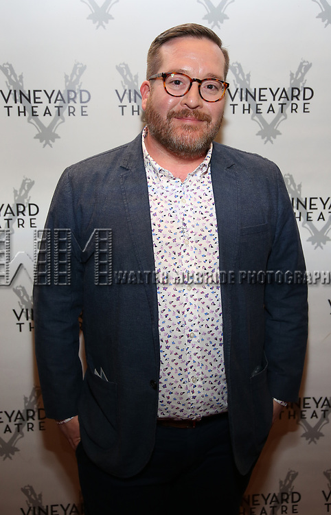 "Michael Cyril Creighton attending the Opening Night Performance for The Vineyard Theatre production of  ""Do You Feel Anger?"" at the Vineyard Theatre on April 2, 2019 in New York City."