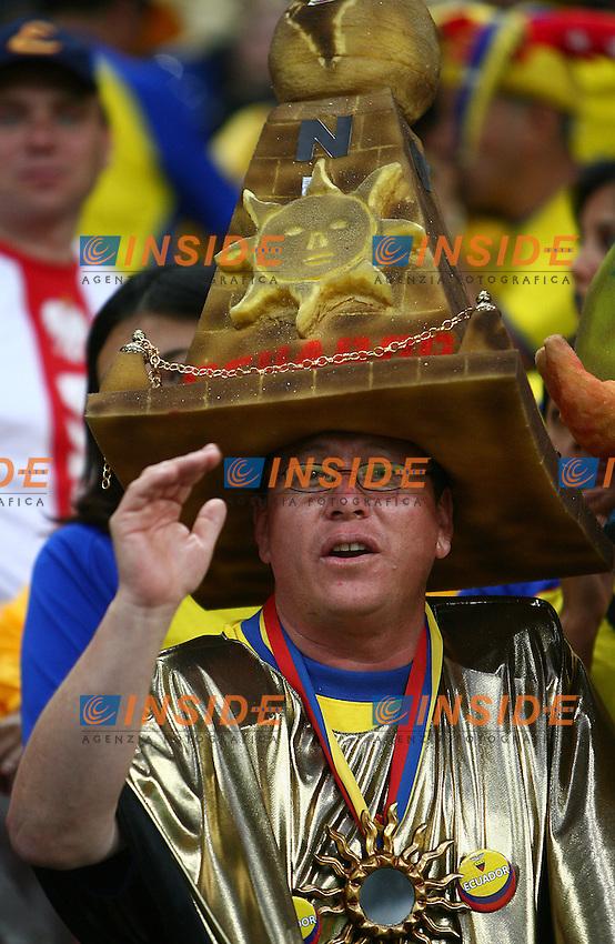 Gelsenkirchen 9/6/2006 World Cup 2006.Poland Ecuador - Polonia Ecuador 0-2.Photo Andrea Staccioli Insidefoto.Fan of Ecuador