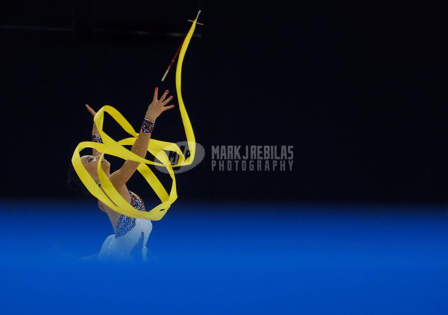 July 28, 2007: Rio de Janeiro, Brazil: Rut Castillo Galindo (MEX) performs her ribbon routine during the womens gymnastics individual apparatus final at the 2007 Pan Am Games at the Rio Centro Pavilion. Mandatory Credit: Mark J. Rebilas-US PRESSWIRE Copyright © 2007 Mark J. Rebilas