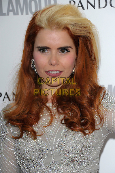 Paloma Faith.Women Of The Year 2012 - Glamour Awards, Berkeley Square, London, England..29th May 2012.headshot portrait blonde streak hair dyed silver  embellished jewel encrusted.CAP/PL.©Phil Loftus/Capital Pictures.