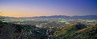 San Fernando Valley, San Gabriel Mountains, Dusk, Twilight