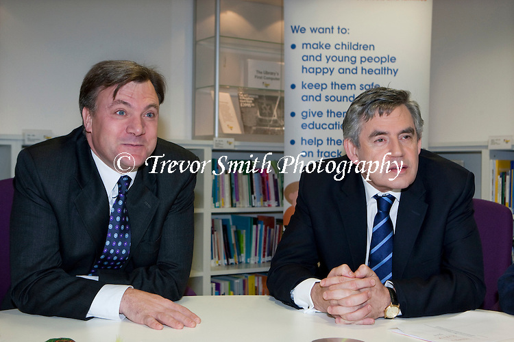Prime Minister Gordon Brown with Ed Balls Secretary of State for Children's Schools & Families