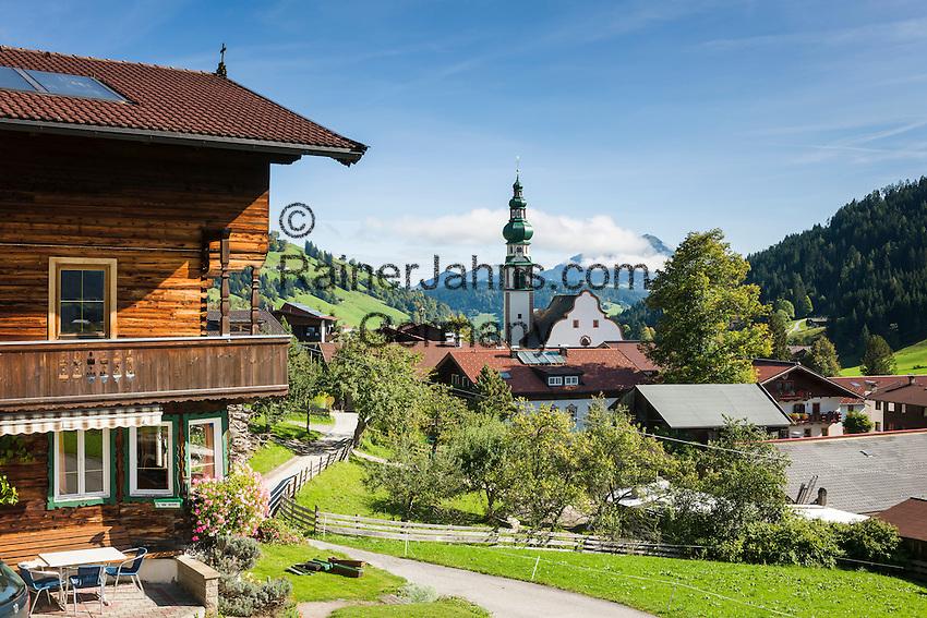 Austria, Tyrol, Wildschoenau: high valley at Kithbuehel Alps, district Oberau | Oesterreich, Tirol, Wildschoenau: Hochtal in den Kitzbueheler Alpen bei Woergl, Ortsteil Oberau