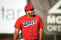 Orem Owlz starting pitcher Andres Heredia (37) before the game against the Ogden Raptors in Pioneer League action at Lindquist Field on June 27, 2017 in Ogden, Utah. Ogden defeated Orem 14-5. (Stephen Smith/Four Seam Images)