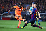 UEFA Champions League 2018/2019.<br /> Round of 16 2nd leg.<br /> FC Barcelona vs Olympique Lyonnais: 5-1.<br /> Moussa Dembele vs Clement Lenglet.
