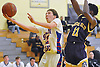 Ryan Prendergast #12 of South Side drives to the net for two points during a non-league game against Central Islip in the Richard Brown Nassau-Suffolk Challenge at Uniondale High School on Saturday, Jan. 14, 2017. South Side won by a score of 67-61.