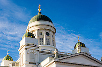 Finland, Helsinki. The Helsinki Cathedral.