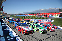03/17/19 Fontana, CA Auto Club Speed Way-  5 Wide  before the start of the Auto Club 400