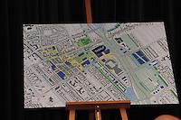 SCHAATSEN: ORANJEWOUD: Plan Nieuw Thialf, 14-12-2011, persconferentie, plattegrond Nieuw Thialf, ©foto: Martin de Jong