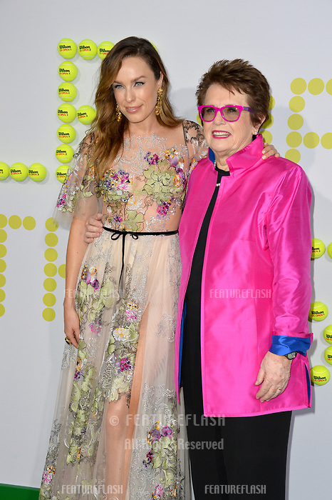 Billie Jean King, Jessica McNamee at the premiere for &quot;Battle of the Sexes&quot; at the Regency Village Theatre, Westwood, Los Angeles, USA 16 September  2017<br /> Picture: Paul Smith/Featureflash/SilverHub 0208 004 5359 sales@silverhubmedia.com