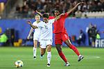 FIFA WOMEN'S WORLD CUP FRANCE 2019 - CANADA vs NEW ZEALAND in Grenoble, on June 15, 2019. NZL3 DF Anna GREEN - (Miramar Rangers, NZL) and CAN3 DF Kadeisha BUCHANAN - (Olympique Lyon, FRA)