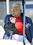 19 February 2011: Washington Nationals' Spring Instructor Pat Corrales watches drills during Spring Training at the Carl Barger Baseball Complex in Viera, Florida. Mandatory Credit: Ed Wolfstein Photo