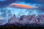 December Daybreak in Sedona.  A clearing winter storm adorns this Arizona landscape as dawn approaches a few days before the new year.<br /> <br /> Image ©2020 James D. Peterson