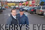 Announcing the December Free Parking in Listowel: David O'Brien (Town Clerk Listowel Town Council) and Graham Borley (Traffic Litter Warden Listowel).