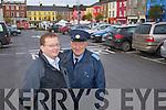 Announcing the December Free Parking in Listowel: David O'Brien (Town Clerk Listowel Town Council) and Graham Borley (Traffic Litter Warden Listowel).
