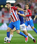 Atletico de Madrid's Saul Niguez (l) and Leicester City FC's Shinji Okazaki during Champions League 2016/2017 Quarter-finals 1st leg match. April 12,2017. (ALTERPHOTOS/Acero)
