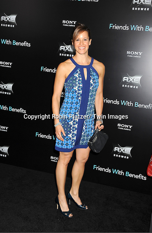 "Jenna Wolfe attending the New York Premiere of ""Freinds With Benefits"" on July 18, 2011 at The Ziegfeld Theatre in New York City. The movie stars Justin Timberlake, Mila Kunis, Emma Stone, Patricia Clarkson, Jenna Elfman and Bryan Greenberg."