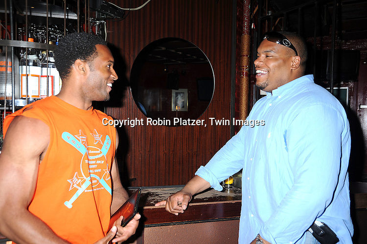 Lawrence Saint-Victor, actor on Guiding Light and Sean Ringgold, actor on One Life to Live..at The Gabriel Project Benefit at Prohibition on Columbus Avenue in New York City on June 7, 2008.....Robin Platzer, Twin Images
