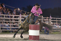 Johnsville, MD: J Bar W Ranch -- Nichole Rupp rounding 2nd barrel.
