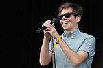 Nate Ruess of Fun performs at the Outside Lands Music & Art Festival at Golden Gate Park in San Francisco, California.