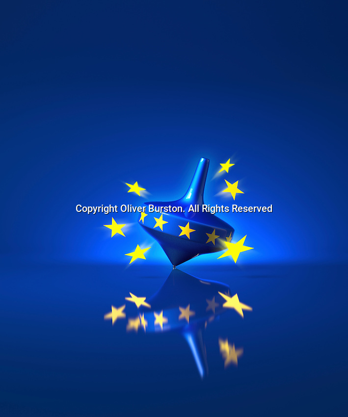 Stars leaving European Union spinning top