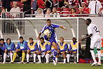 11 March 2008: Yendry Diaz (CUB) (5) controls the ball in front of Jozy Altidore (USA) (12). The United States U-23 Men's National Team tied the Cuba U-23 Men's National Team 1-1 at Raymond James Stadium in Tampa, FL in a Group A game during the 2008 CONCACAF's Men's Olympic Qualifying Tournament.