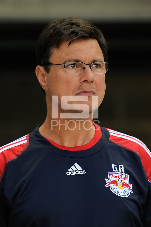 New York Red Bulls assistant coach Goral Aral. The New York Red Bulls defeated the Philadelphia Union 2-1 during a Major League Soccer (MLS) match at Red Bull Arena in Harrison, NJ, on April 24, 2010.