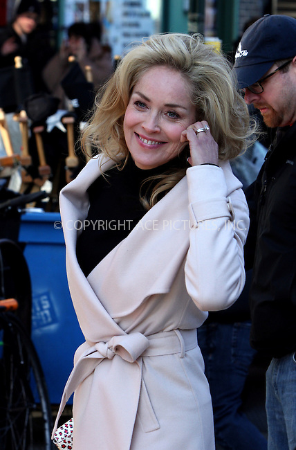 WWW.ACEPIXS.COM....November 26 2012, New York City....Actress Sharon Stone was on the set of the new movie 'Fading Gigolo' on November 26 2012 in New York City....By Line: Zelig Shaul/ACE Pictures......ACE Pictures, Inc...tel: 646 769 0430..Email: info@acepixs.com..www.acepixs.com