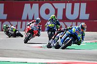 ALEX RINS - SPANISH - TEAM SUZUKI ECSTAR - SUZUKI<br /> MAVERICK VINALES - SPANISH - MOVISTAR YAMAHA MotoGP - YAMAHA<br /> VALENTINO ROSSI - ITALIAN - MOVISTAR YAMAHA MotoGP - YAMAHA<br /> ANDREA DOVIZIOSO - ITALIAN - DUCATI TEAM - DUCATI<br /> $<br /> Assen 1-07-2018 <br /> Moto Gp Olanda<br /> Foto Vincent Guignet / Panoramic / Insidefoto
