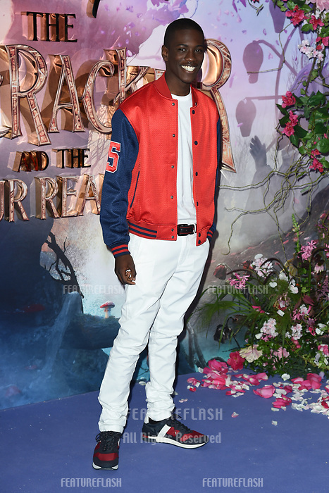 "LONDON, UK. November 01, 2018: Jayden Fowora-Knight at the European premiere of ""The Nutcracker and the Four Realms"" at the Vue Westfield, White City, London.<br /> Picture: Steve Vas/Featureflash"