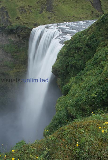 Skogafoss Waterfalls, Iceland.