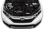 Car Stock 2019 Honda CR-V LX 5 Door SUV Engine  high angle detail view